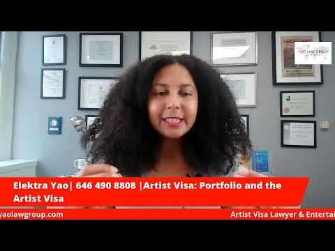 Portfolios and the Artist Visa