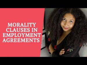 Morality Clauses in Employment Agreements for Creatives and Artists