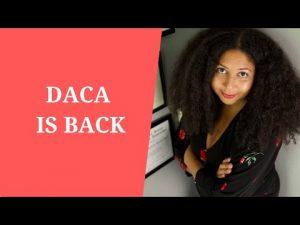 DACA IS BACK