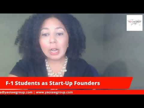 F-1 Students as Start-up founders?