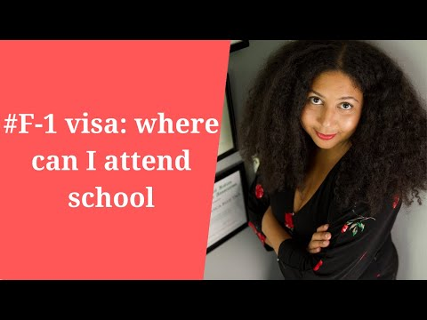 #F-1 visa: where can I attend school