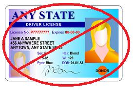 no drivers license